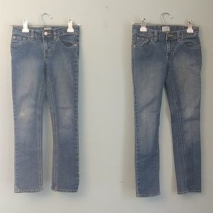 Two Sets of Children's Place Girls Jeans